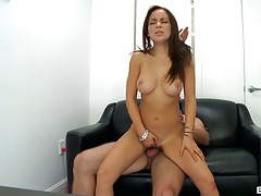 Reverse cowgirl audition sex from Bella Sianna