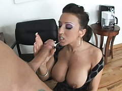 Ricki desperate for a job reveals her big tits remove pantie