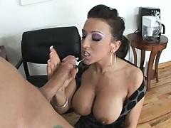 Ricki desperate for a job reveals her big tits remove pantie