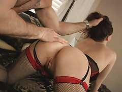 Sexy milf gets a guest when husband is away