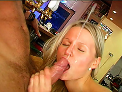 Teenage girl loves to taste beer and semen