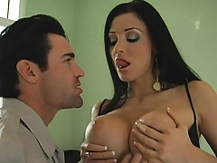 Busty wife Aletta fucks a prison correctional officer