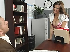 Big tits job applicant needs to seal her new job