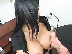 Big tits at the dating agency and interview went good