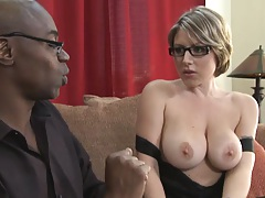Big tits milf and a big ass black rod