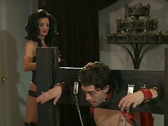 Milf brunette Alektra Blue in bondage fetish sex domination