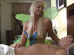 Twinkle big tits fairy comes to help husband