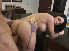 Slut gets nailed by her boss at work