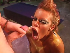 Blowjob and group fetish ejaculation with Gia Paloma