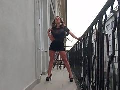 Mofos worldwide on a euro balcony