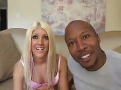 Blonde Barbi Bucx interracial pussy licking