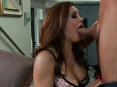 Redhead milf Francesca Le sucking dick with deep throat