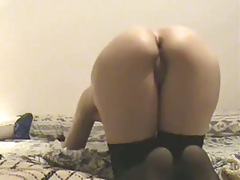 Amateur gf ass gets fucked on home video
