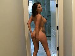 Big tits slut sucking some dick near counter