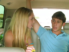 Hot blonde girl Brynn Tyler and a real loser