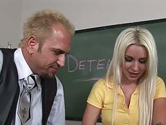 Blonde Stevie Shae in teachers punishment