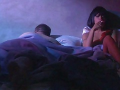 Night time smoking from Kaylani Lei on the bed