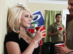 Big tits blonde college slut whore Madison