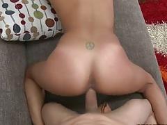 Gigi Larios pov doggy style and sideways smooth shaved pussy fuck