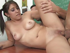 Abby Lane fucked on teacher desk
