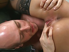 Spreading and eating fresh pussy on Anissa Kate strange doctor