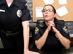 Female cops take their detainees into the backroom