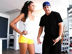 Latina rampage hot latina in yellow shorts Jasmine Rios