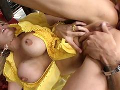 Big tits Julia Ann gets an ass licking rimjob with pov blowjob