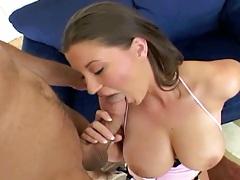 Blowjob with natural big boobs Sara Stone