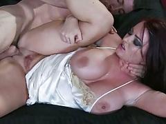 Big tits Sophie Dee fucked sideways