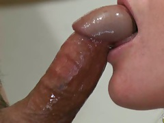 Rubi giving a nice wet blowjob and sucking