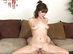 Trimmed pussy reverse cowgirl sex