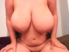 Chubby big tits April McKenzie jumping on dick with huge boobs