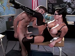 Desk teacher and student fuck with big tits Audrey Bitoni