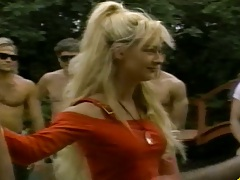 Group sex with Trixie Kelly outdoors like a fucking train