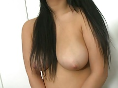 Nice natural tits latina Rikki Nyx undressing for her audition and showing pussy