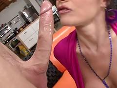 Hot milf with big tits Eva Karera sucking and touching