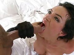 Franceska sucks huge cock with cumshot