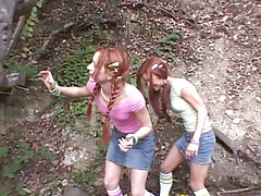 Outdoor making out 18 year old girls with Lil Laura