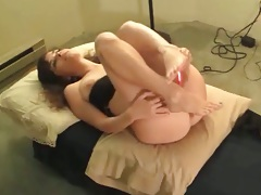 Solo home video amateur milf dildo masturbation
