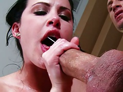 Blowjob and trimmed pussy sex with Katie St. Ives