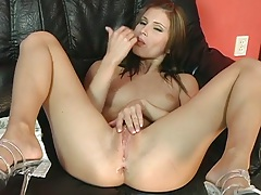 Sexy Kessya spreading her pussy and playing with wet clit and dildo